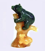 JADE BEAR ON AGATE TREE