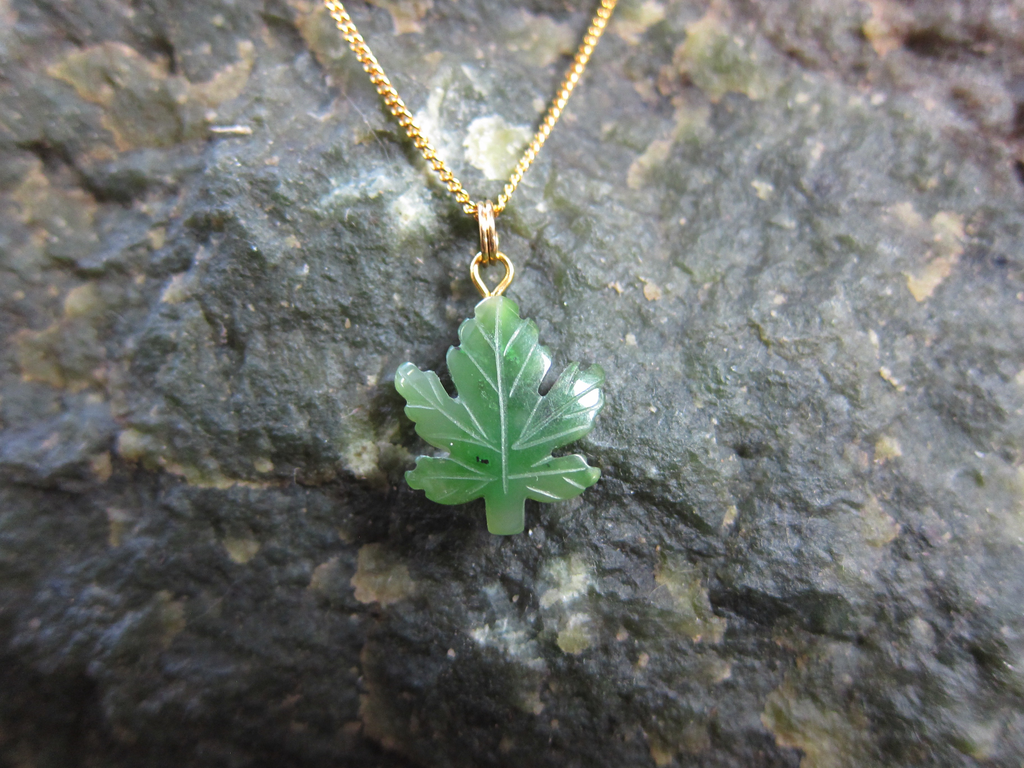 Jade maple leaf pendant jade city jade store cassiar mountain bc jade maple leaf pendant aloadofball Gallery