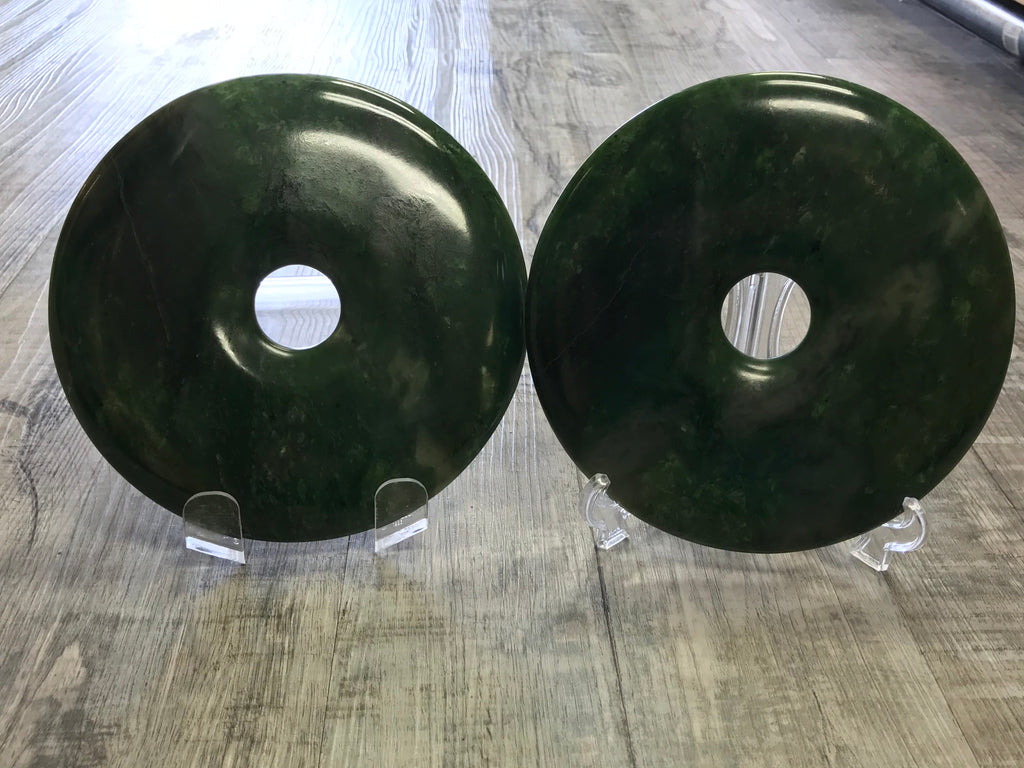 Small Jade Coin on a Stand