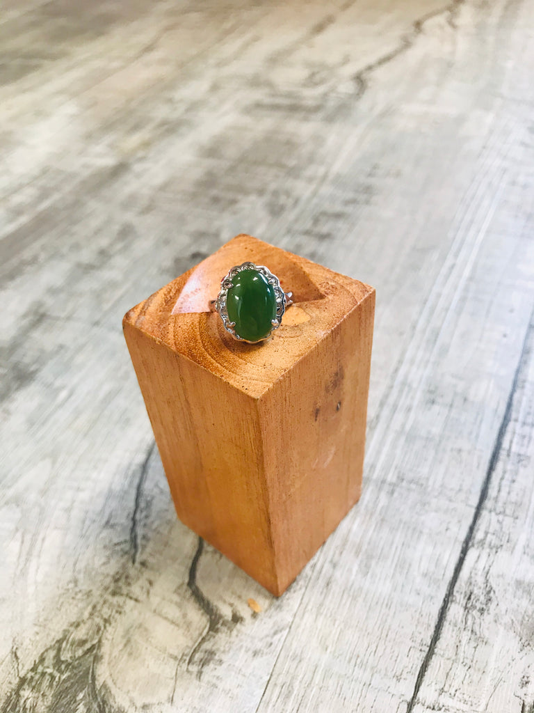Jade Oval Arch Base Ring