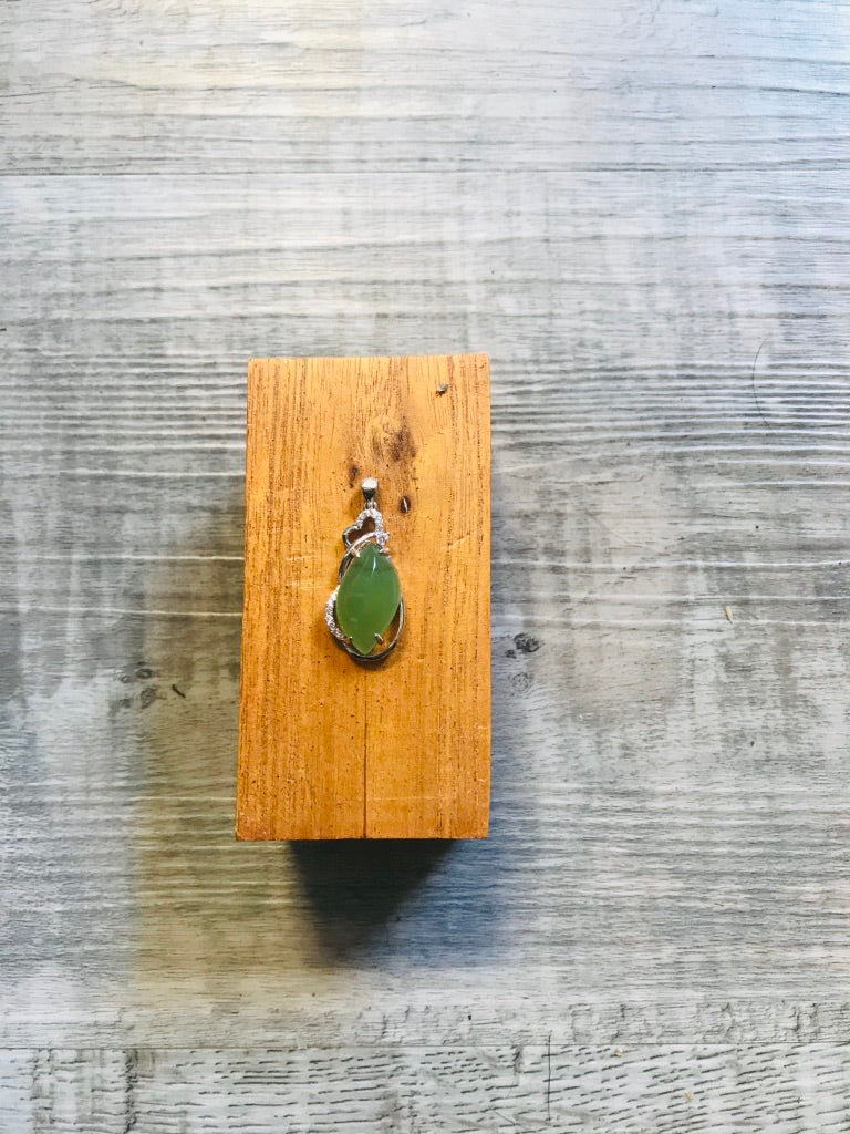 Jade 'S' Cut and Hear Pendant