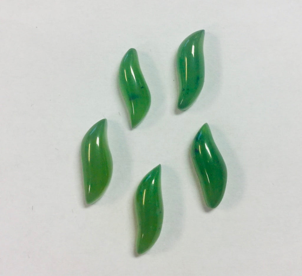 "Jade ""S"" Curve Cabochon, sold individually"