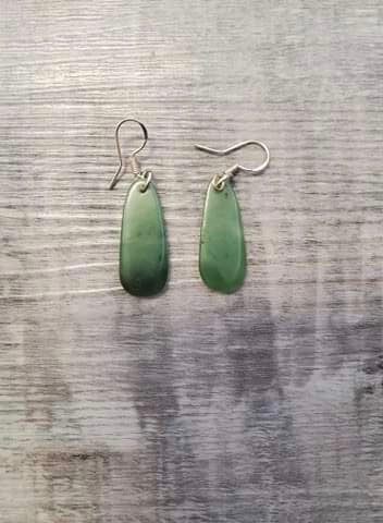 Jade Teardrop Earrings - made in Jade City