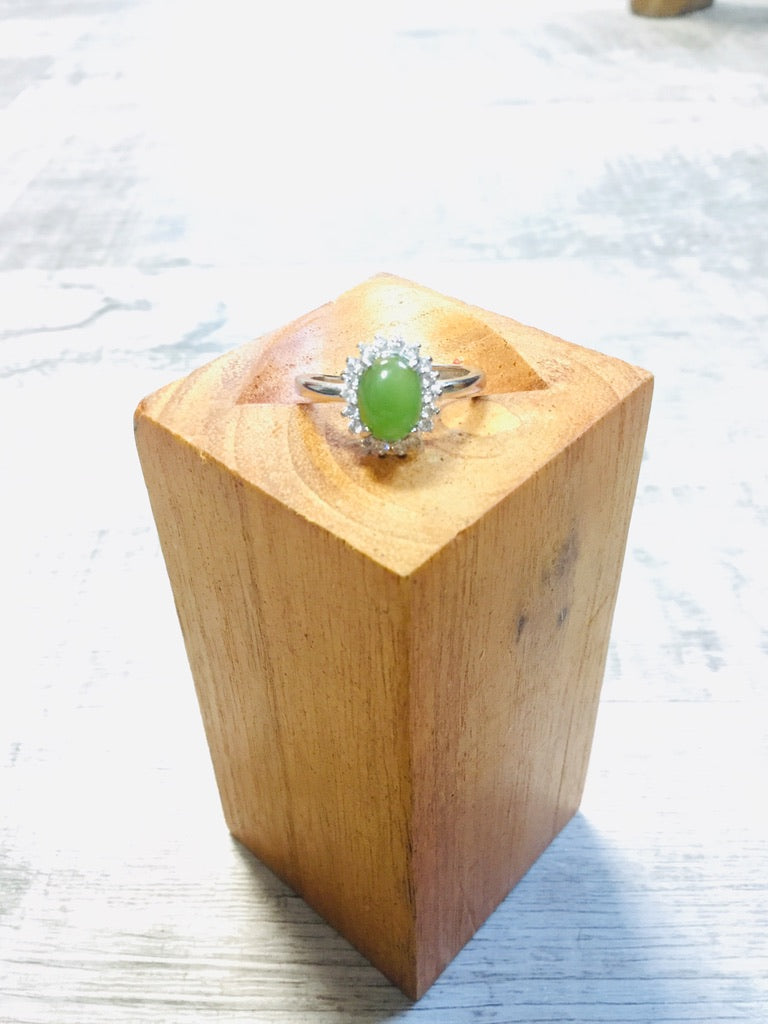 High Grade Jade Adjustable Ring