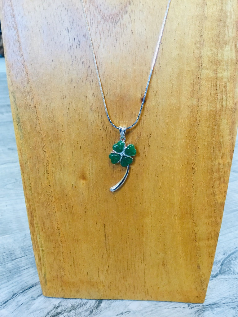 Jade Shamrock Necklace