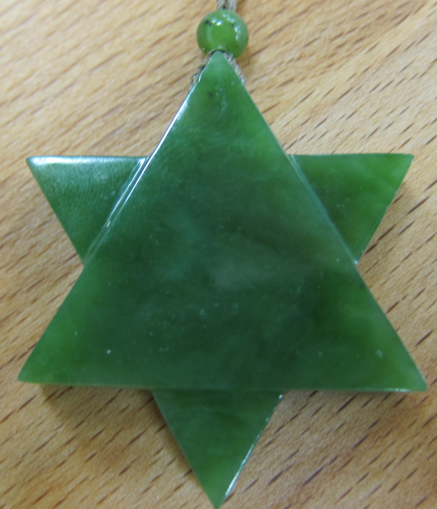 JEWELRY- JADE STAR, SILK CORD