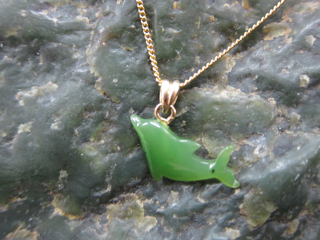 JADE DOLPHIN NECKLACE.