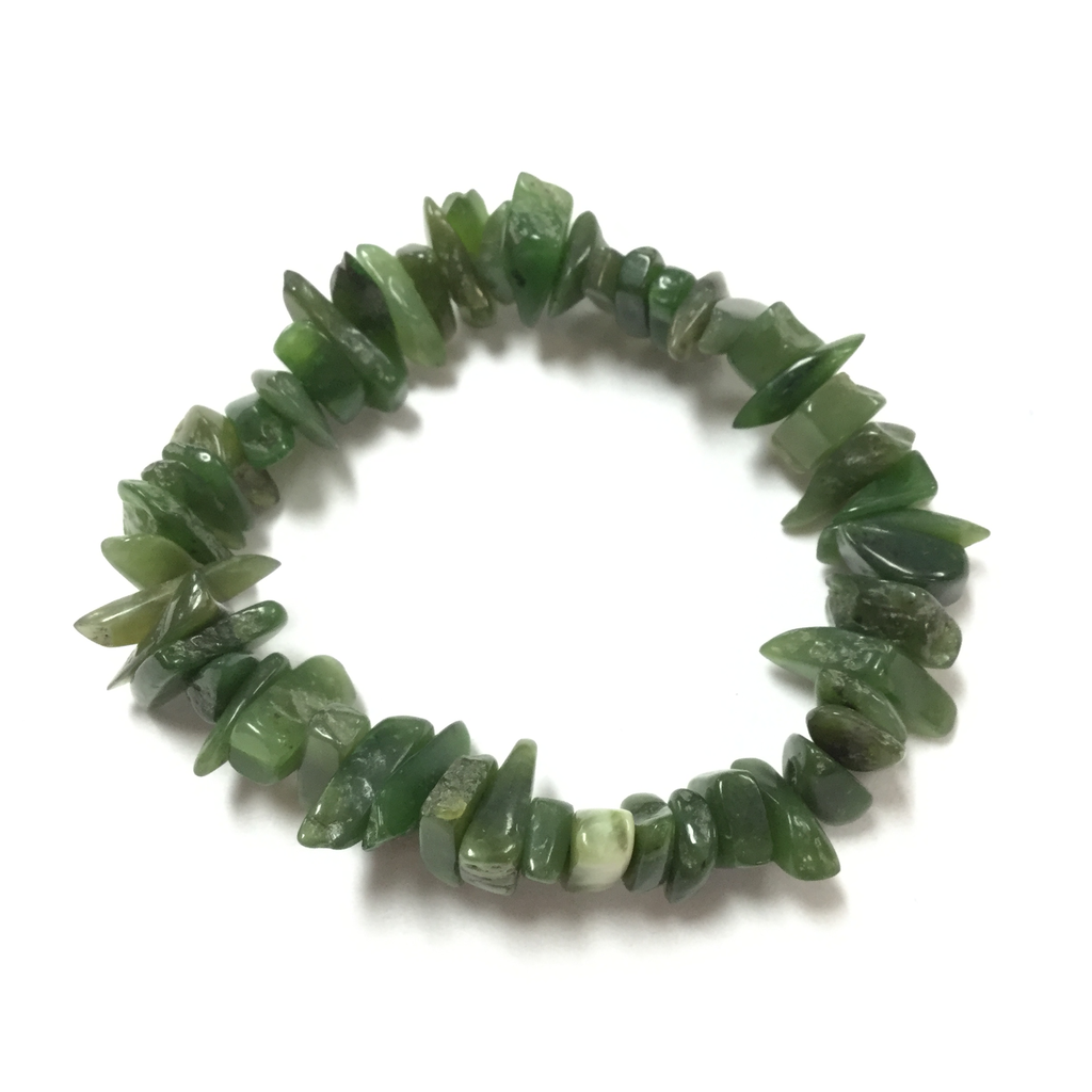JADE IRREGULAR CHIP BEAD BRACELET