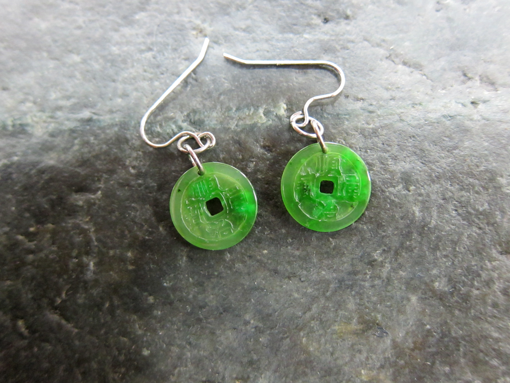 JADE ANCIENT COIN EARRINGS