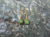 JADE ROUND DANGLE STUD EARRINGS