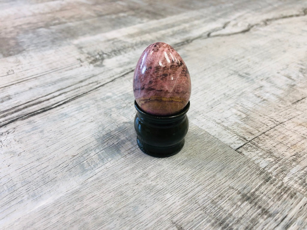 Rhodonite Eggs with base