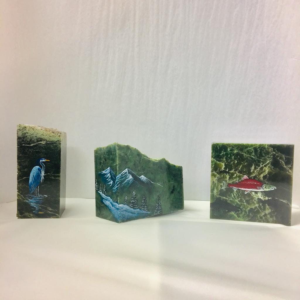 Assorted paintings, hand painted in Jade City