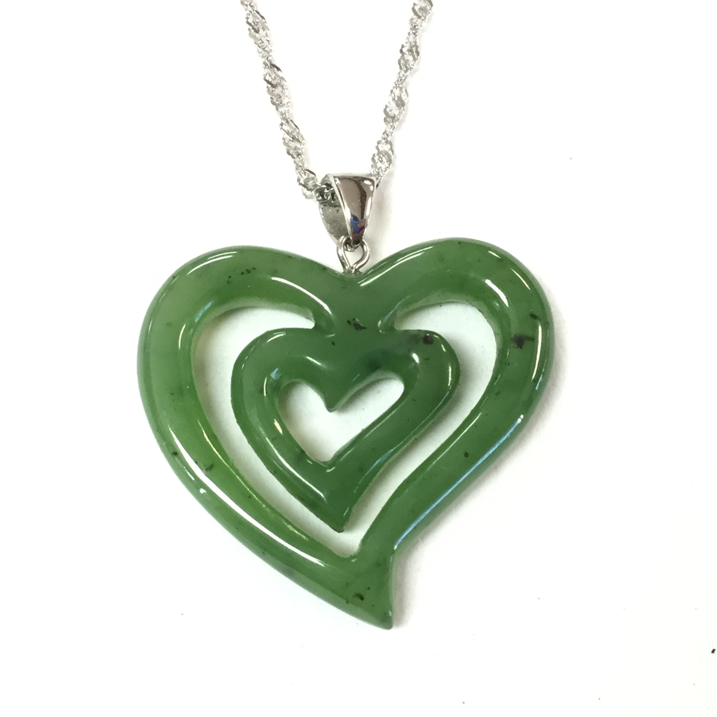 JADE DOUBLE HEART PENDANT