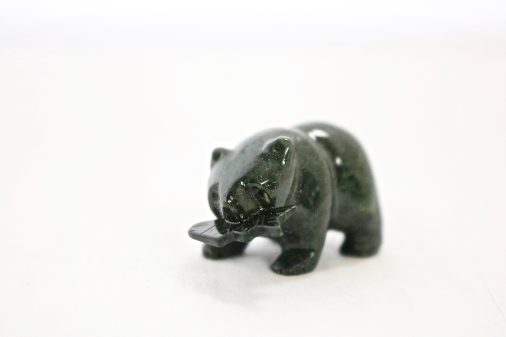 BLACK JADE BEAR, 1 INCH