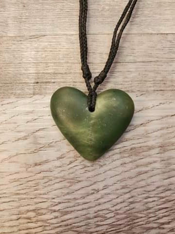 Hand Carved Hearts - made in Jade City