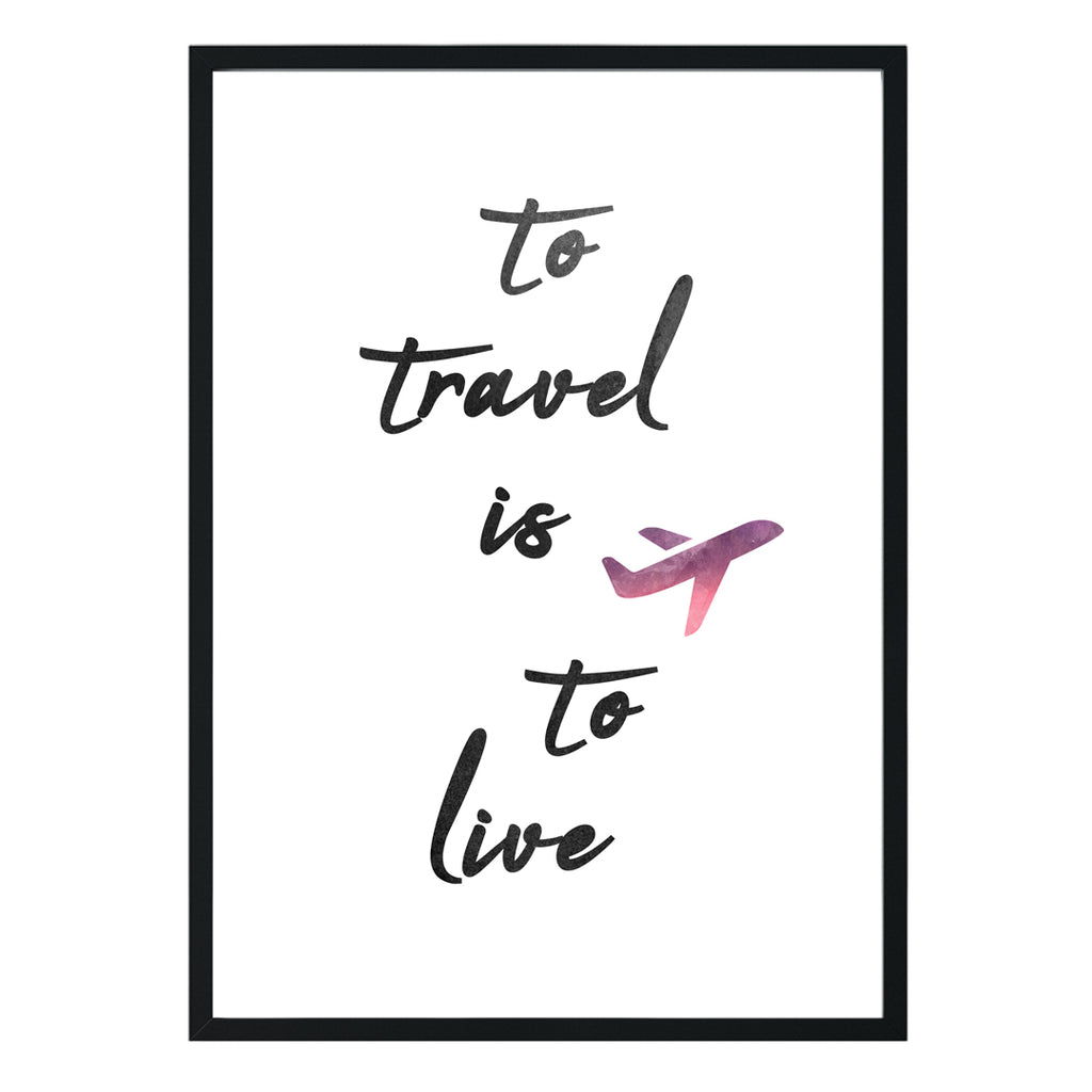 Travel Addict Print