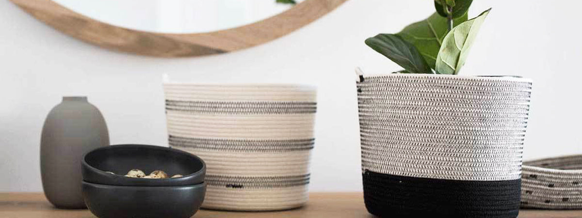 Mia Melange Handcrafted Cotton Rope Baskets
