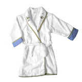 blue froggy pond robe