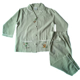 green on safari cotton pants set