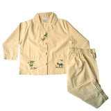 yellow on safari pants set