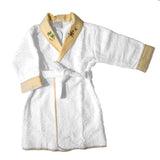 yellow on safari terrycloth toddler robe