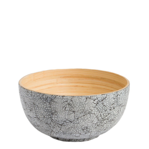 medium round bamboo bowl