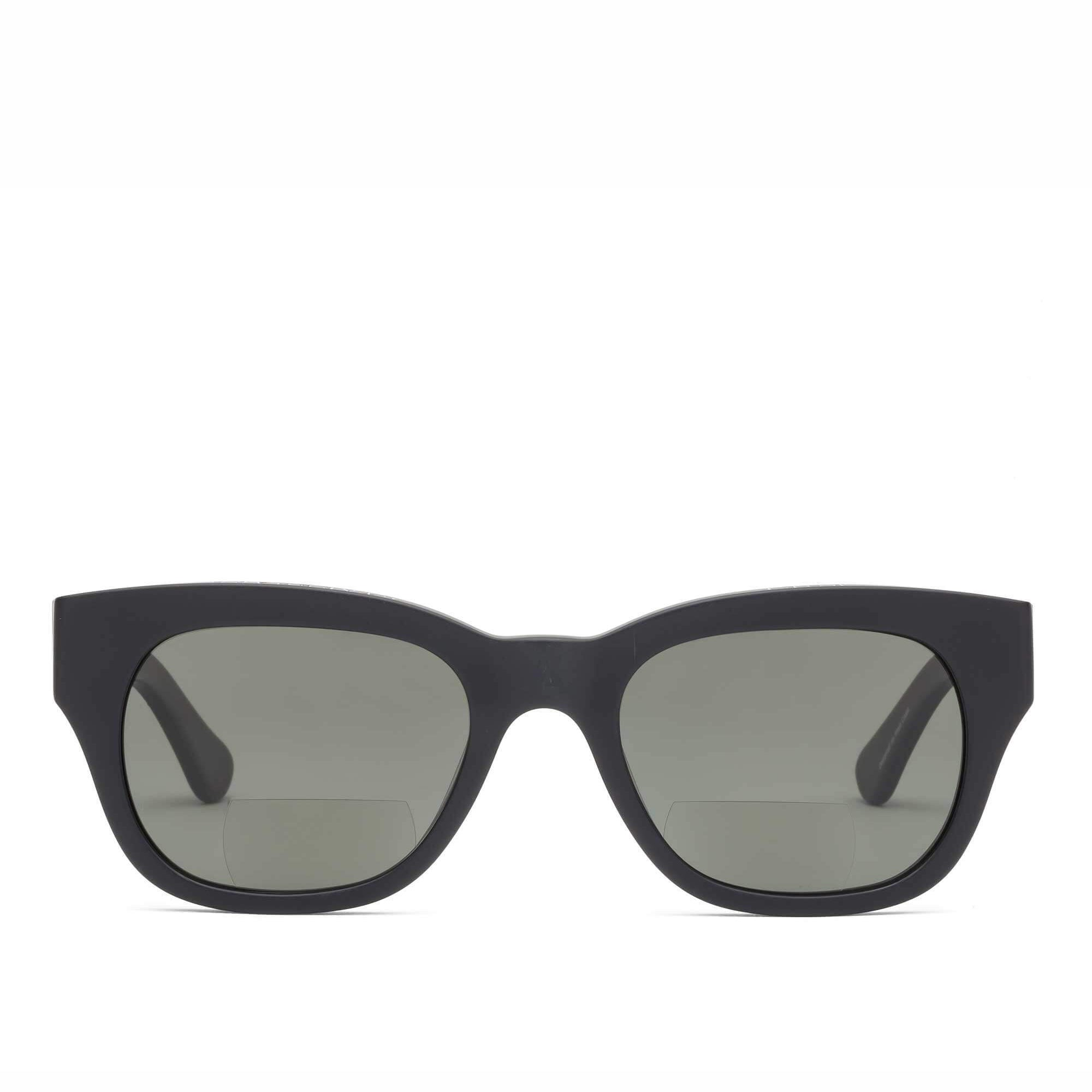 miklos sun readers by caddis eyewear - black matt