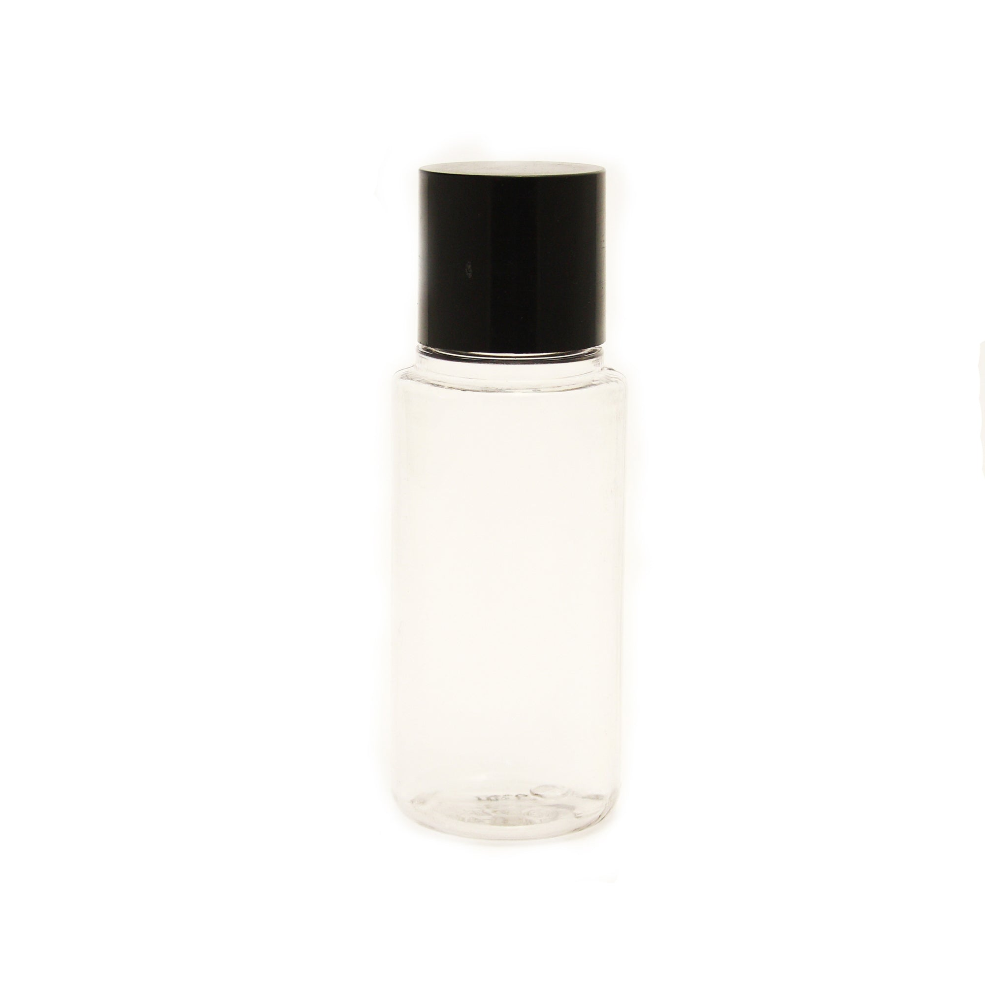 empty bottles 50ml / 1,69fl.oz with black cap