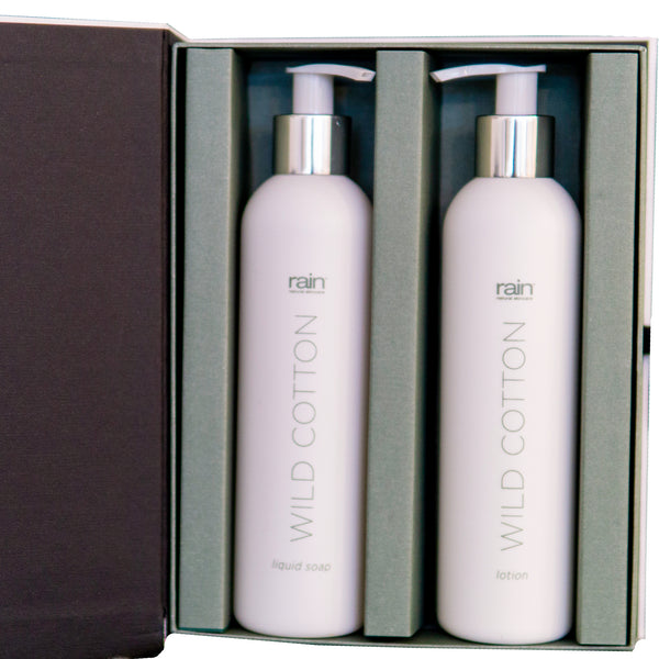 wild cotton lotion and body wash gift box