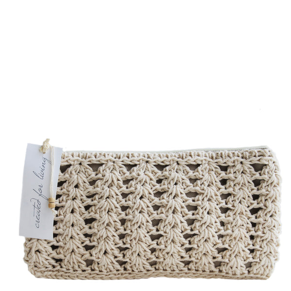 hand crochet cosmetic purse