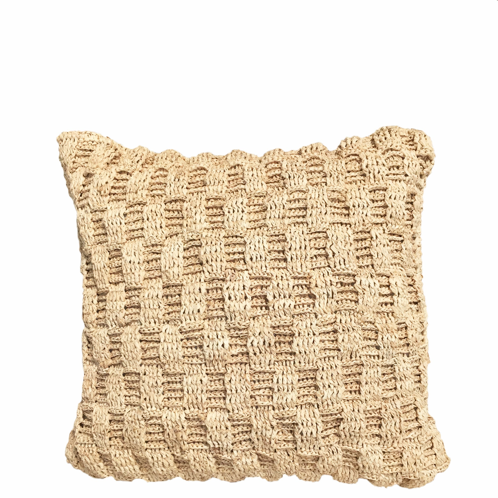 raffia pillow with insert