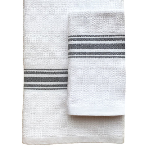 handwoven flat weave cotton bath towel