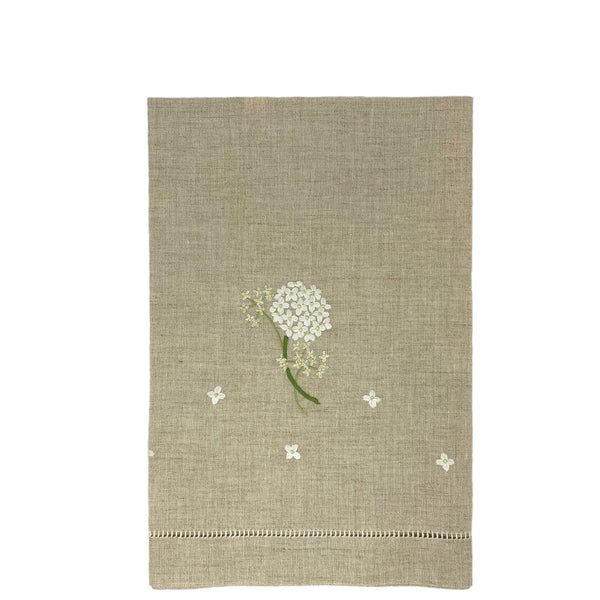 pure linen guest towels - hydrangea - natural