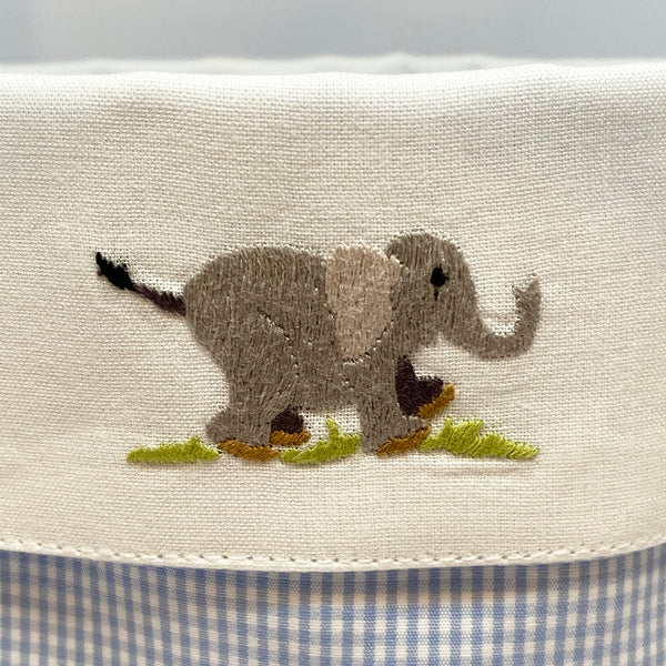 elephant detail on baby vanity holder