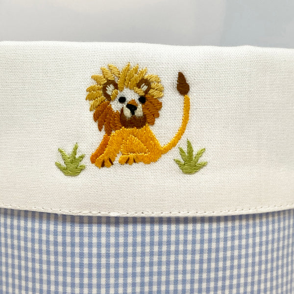 lion detail on baby vanity holder