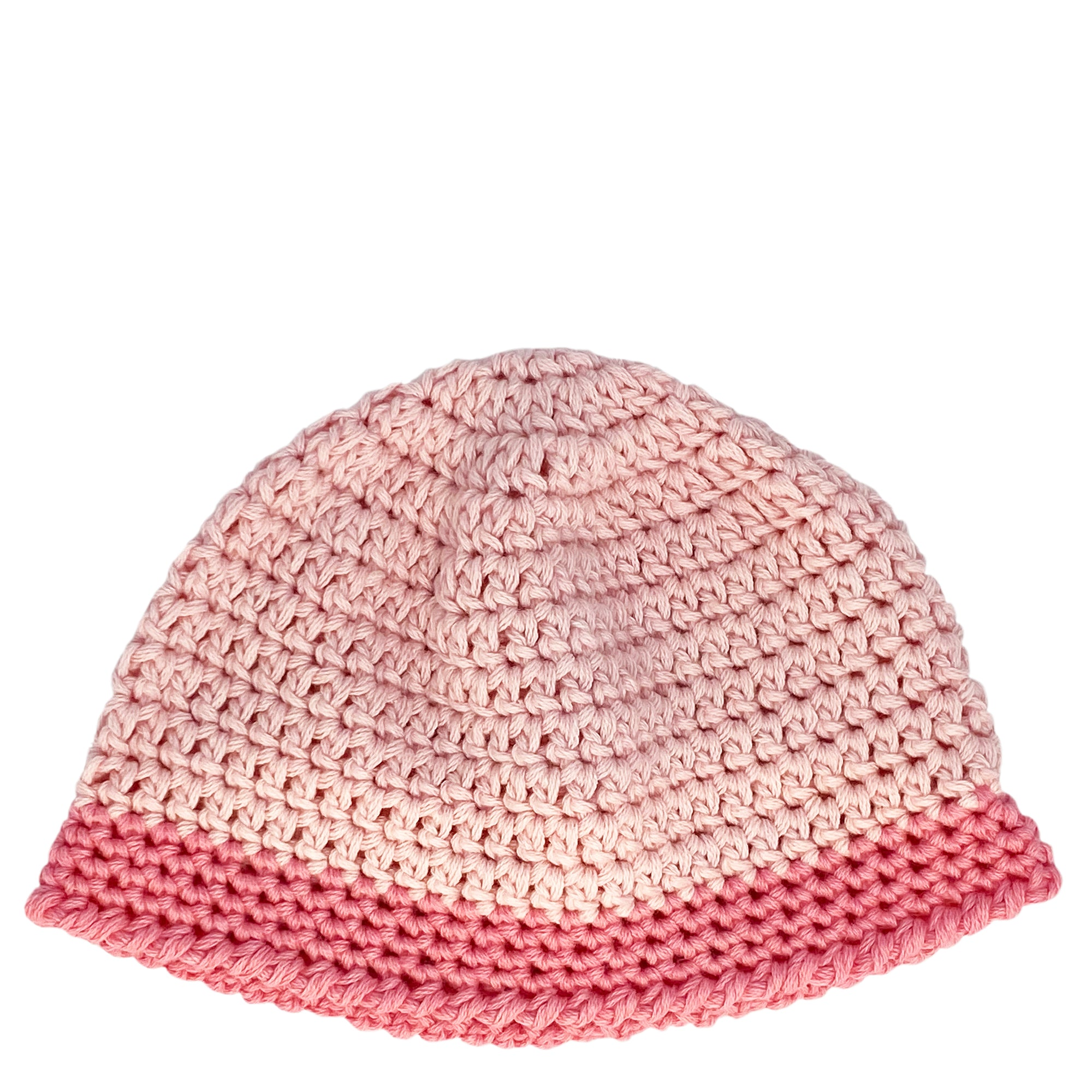 hand crocheted baby beanie in pink