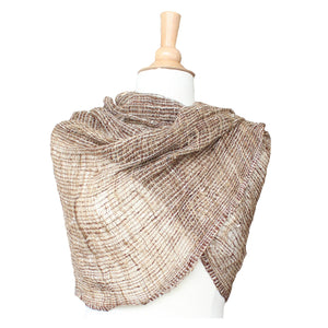 wild silk scarf - natural