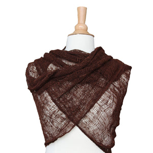 wild silk scarf - brown