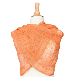 wild silk scarf - orange