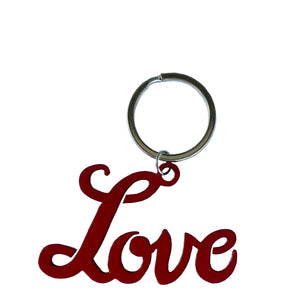 love keyring red