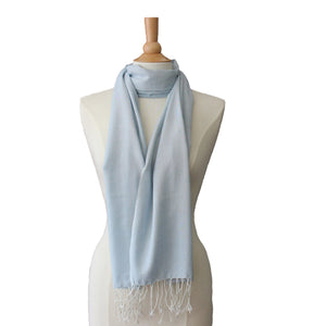 soft  blue cotton scarf