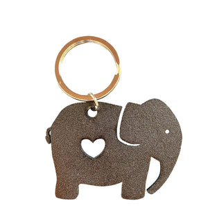 elephant keyring black