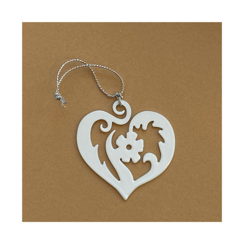 heart christmas tree ornament