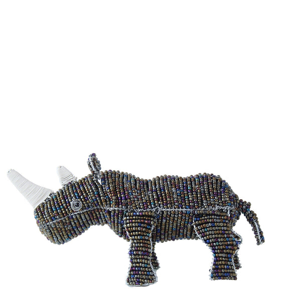 beaded wire art – rhino