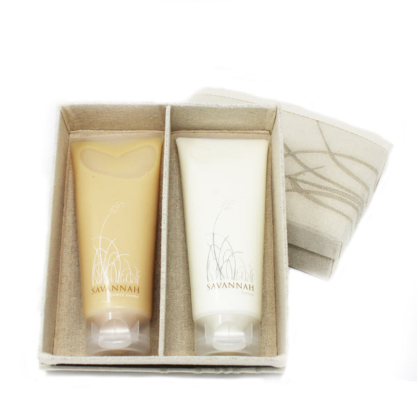 unique handmade gift box with shower cream & lotion