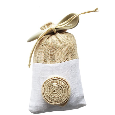 relaxing natural bath salt in reusable gift bag