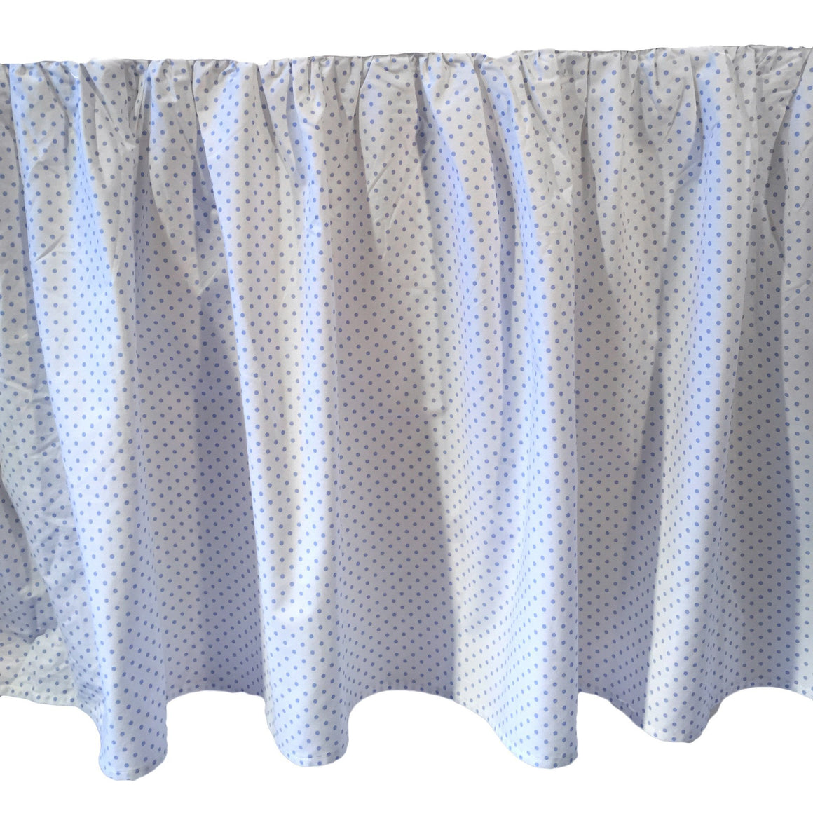 blue polka dot crib dust ruffle