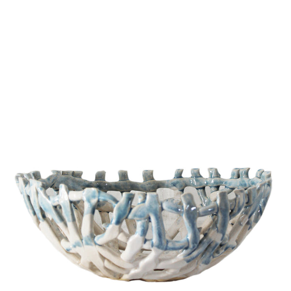 lattice ceramic bowl