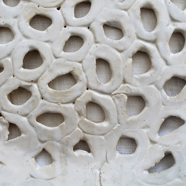 lattice ceramic platter