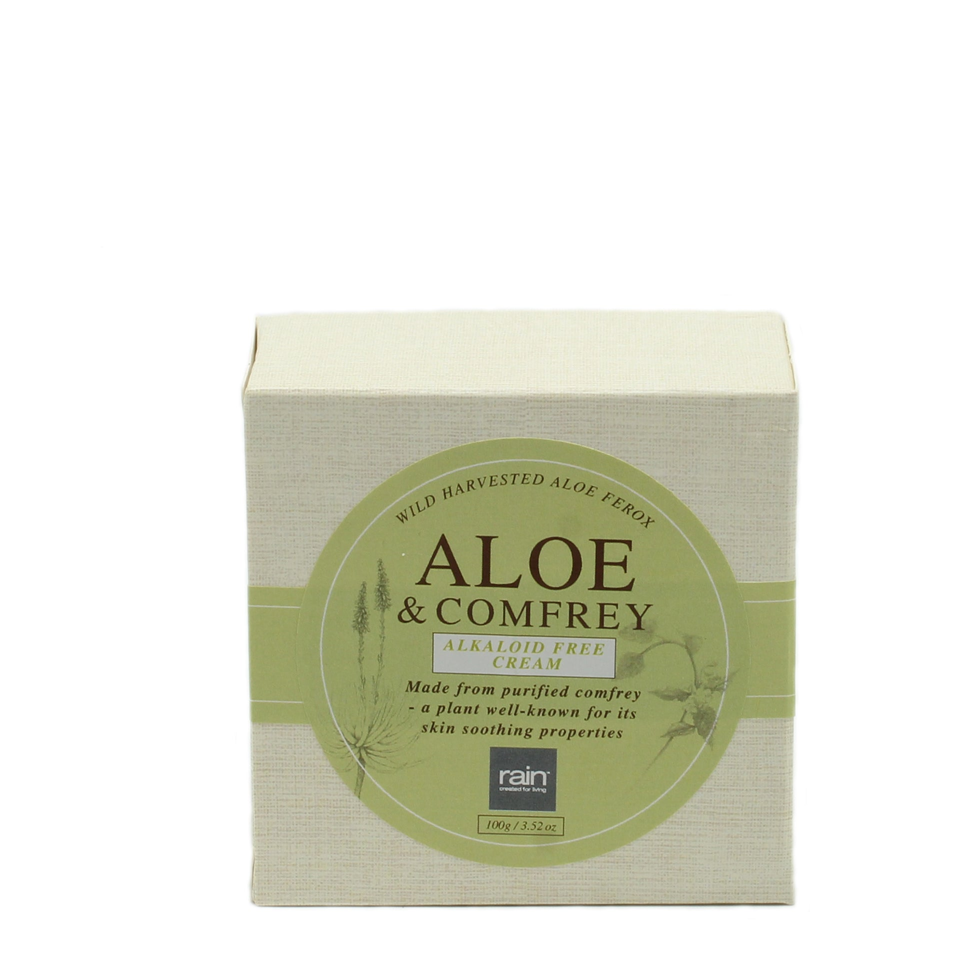 healing aloe and comfrey body cream